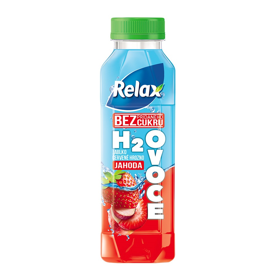 Relax H2Ovoce 0.4l PET jahoda