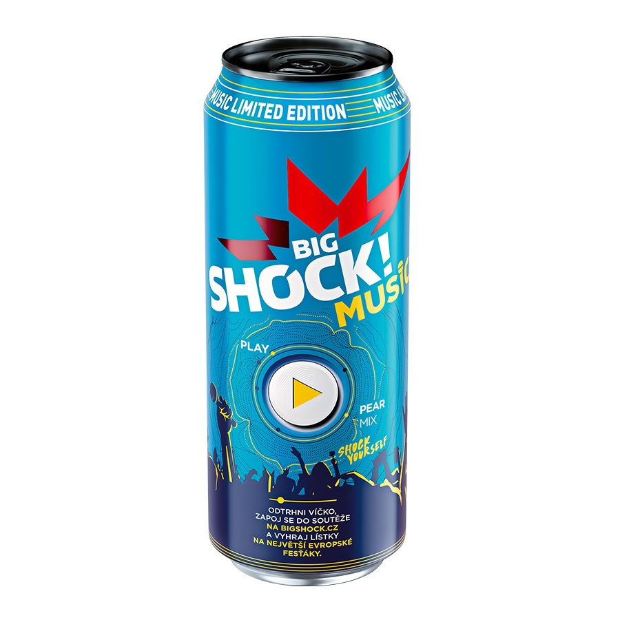 Shock  500ml MUSIC pear mix