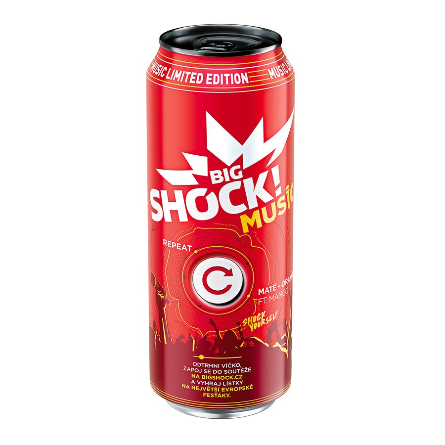 Shock  500ml MUSIC maté-orange