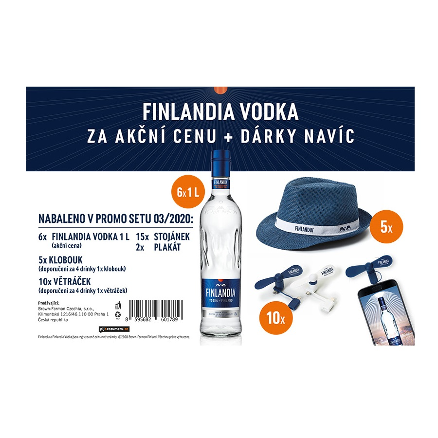 Vodka Finlandia 6x1l set 3/2020