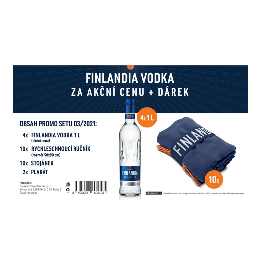 Vodka Finlandia 4x1l set 03/2021
