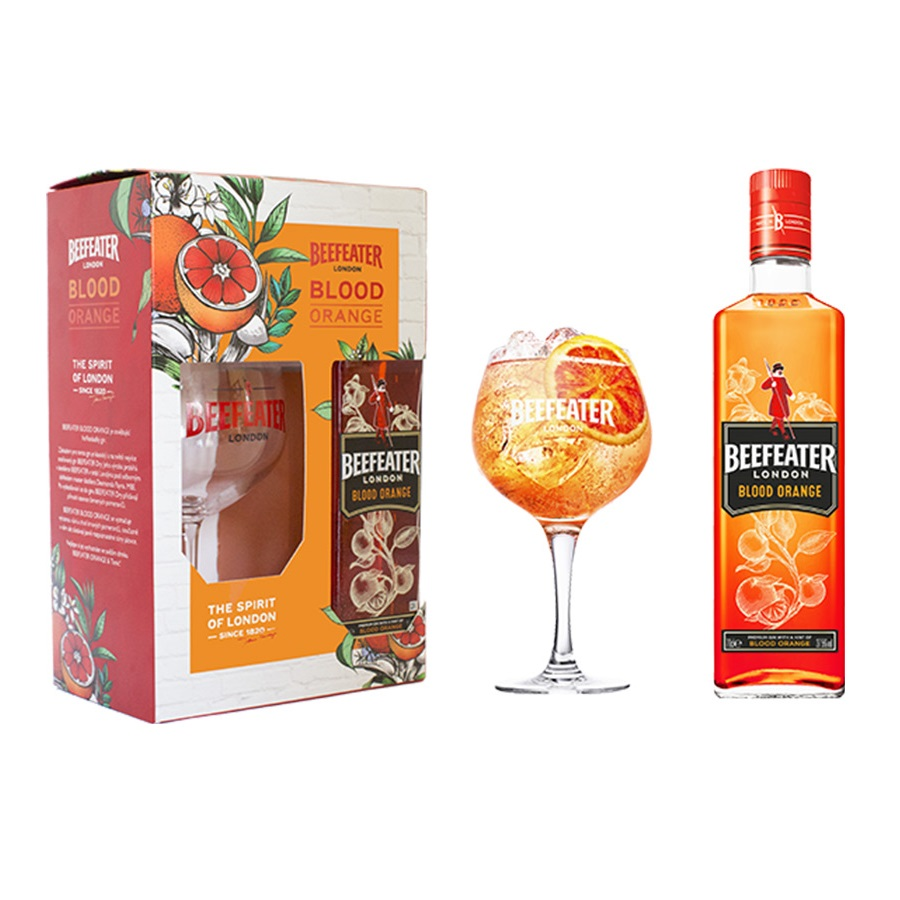 Gin Beefeater Blood Orange 0.7l + sklo