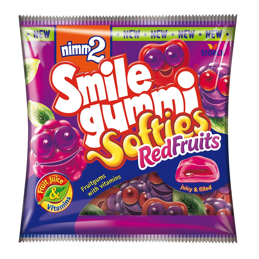 Bonbóny Nimm2 Smile Gummies Softies red fruits 90g