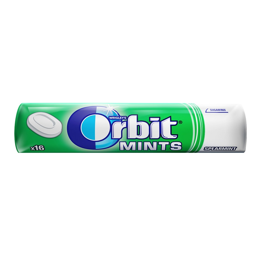 Bonbóny Orbit mints spearmint 28g
