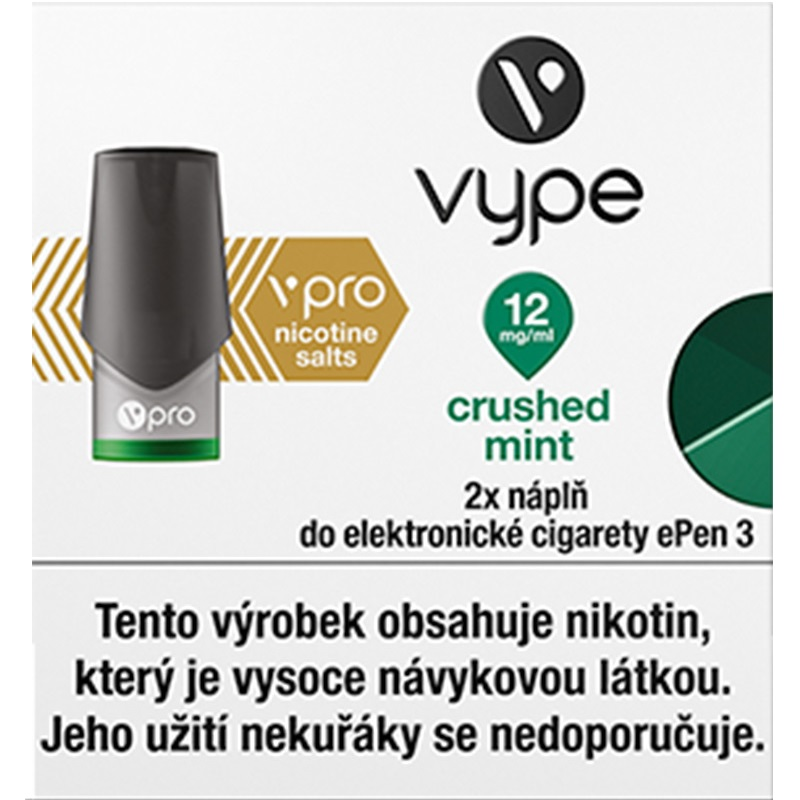 Náplò Vype ePen3 Crushed Mint  12mg