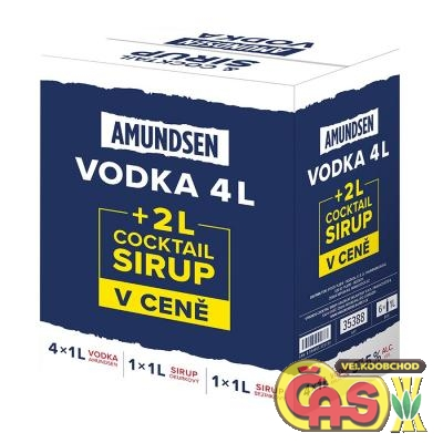Amundsen Vodka 4x1l+2x1l cocktail sirup