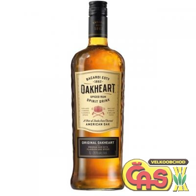 BACARDI OAK HEART SPICED 1l 35%