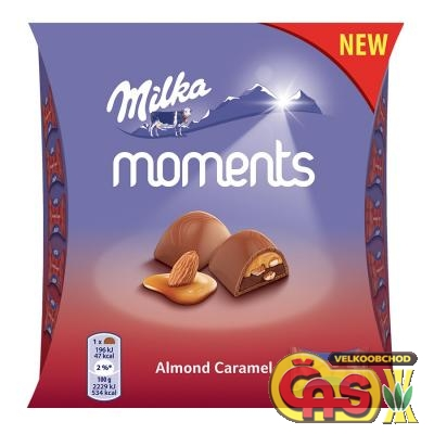 Bonboniéra Milka Moments Almond  95g