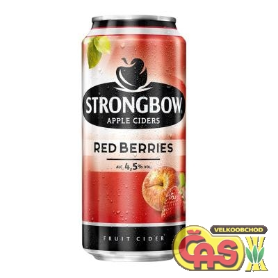 CIDER STRONGBOW REDBERRIES 0.44l plech