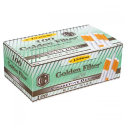 DUTINKY GOLDEN FILTER MENTHOL 100+15ks