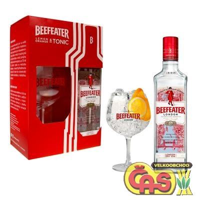 Gin Beefeater 40% 0.7l + sklo