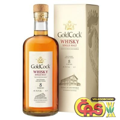 GOLD COCK 8-let� whisky 0.7l    49.2%