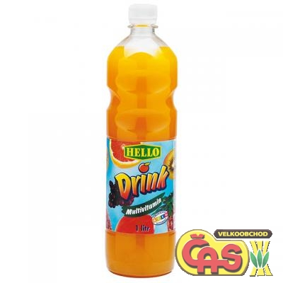 HELLO DRINK MULTIVITAMÍN  1l PET