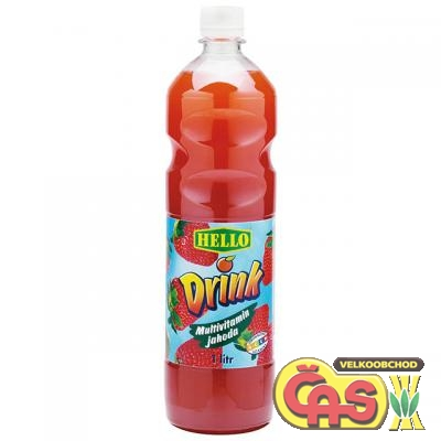HELLO DRINK MULTIVITAMÍN-JAHODA 1l PET