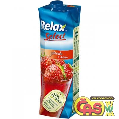 JUICE RELAX SELECT JAHODA 1l