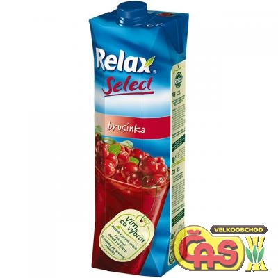JUICE RELAX SELECT BRUSINKA 1l