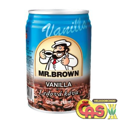LEDOVÁ KÁVA 0.24l Mr.BROWN Vanilla