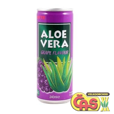 LOTTE ALOE VERA grape 0.24l plech - hrozen