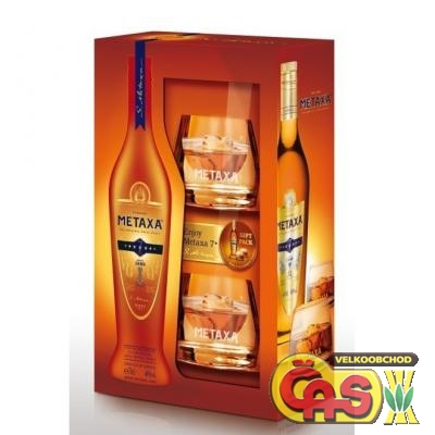 METAXA - 7 STAR 0.7l 40%+2xsklo