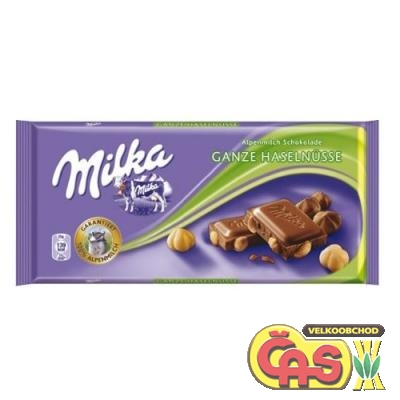 MILKA  100g WHOLE HAZELNUTS / 17ks x