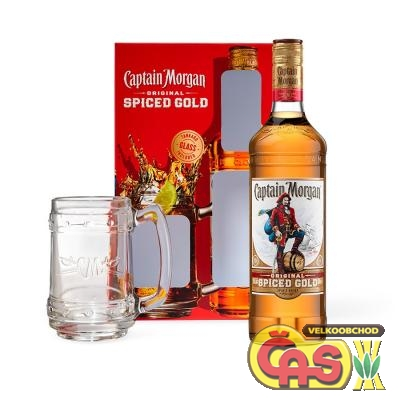 Rum Captain Morgan Gold 0.7l + korbel