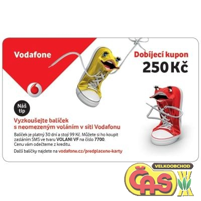TELEFONNÍ KUPON  VODAFONE  250  NEW