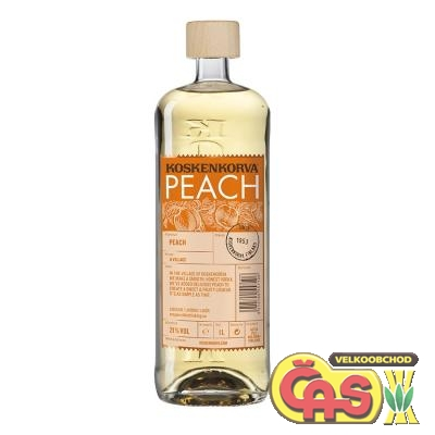 Vodka Koskenkorva peach 1l