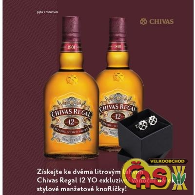 WHISKY - CHIVAS REGAL 2x1l+MAN�ETY 40%