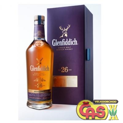 WHISKY - GLENFIDDICH. 0.7 26let 43%