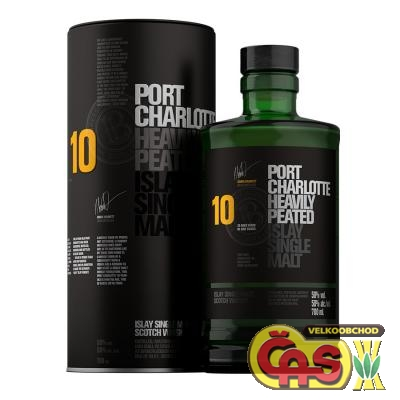 Whisky Malt - Bruichladdich Port Charlotte Heavly Peated 10y 0.7l