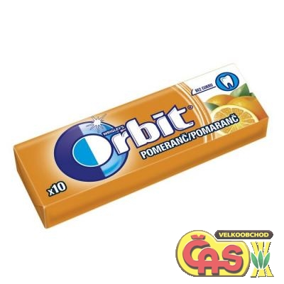 ŽVÝKAÈKY  ORBIT DRAŽÉ ORANGE 14g