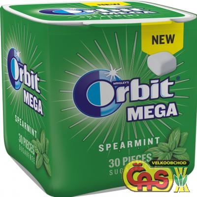 Žvýkaèky orbit spearmint mega  66g